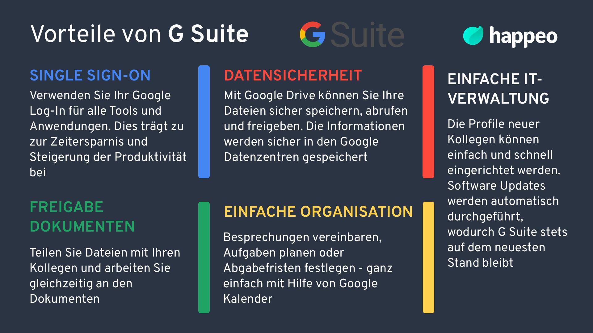 Vorteile von G Suite