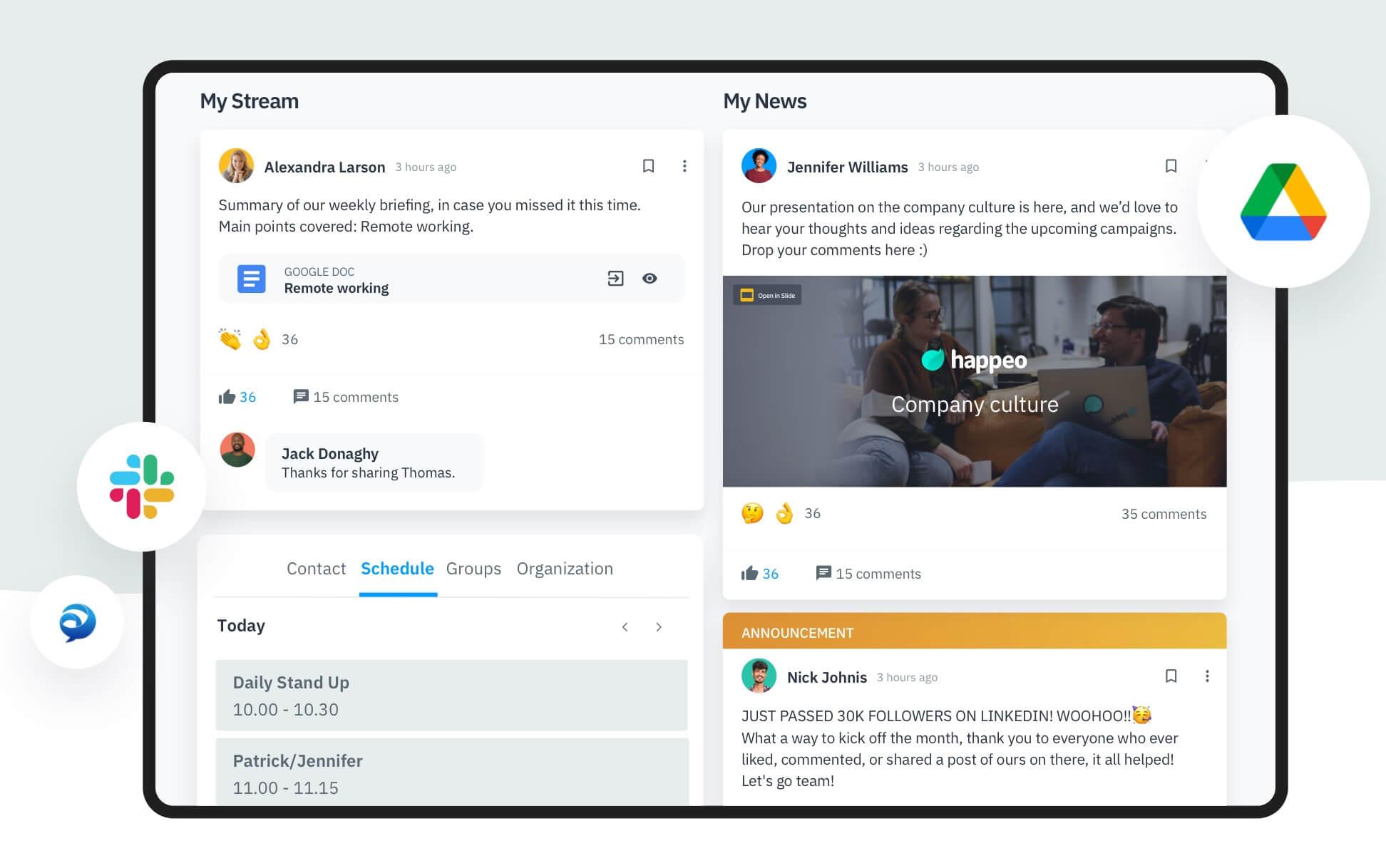 Happeo - Microsoft teams alternative