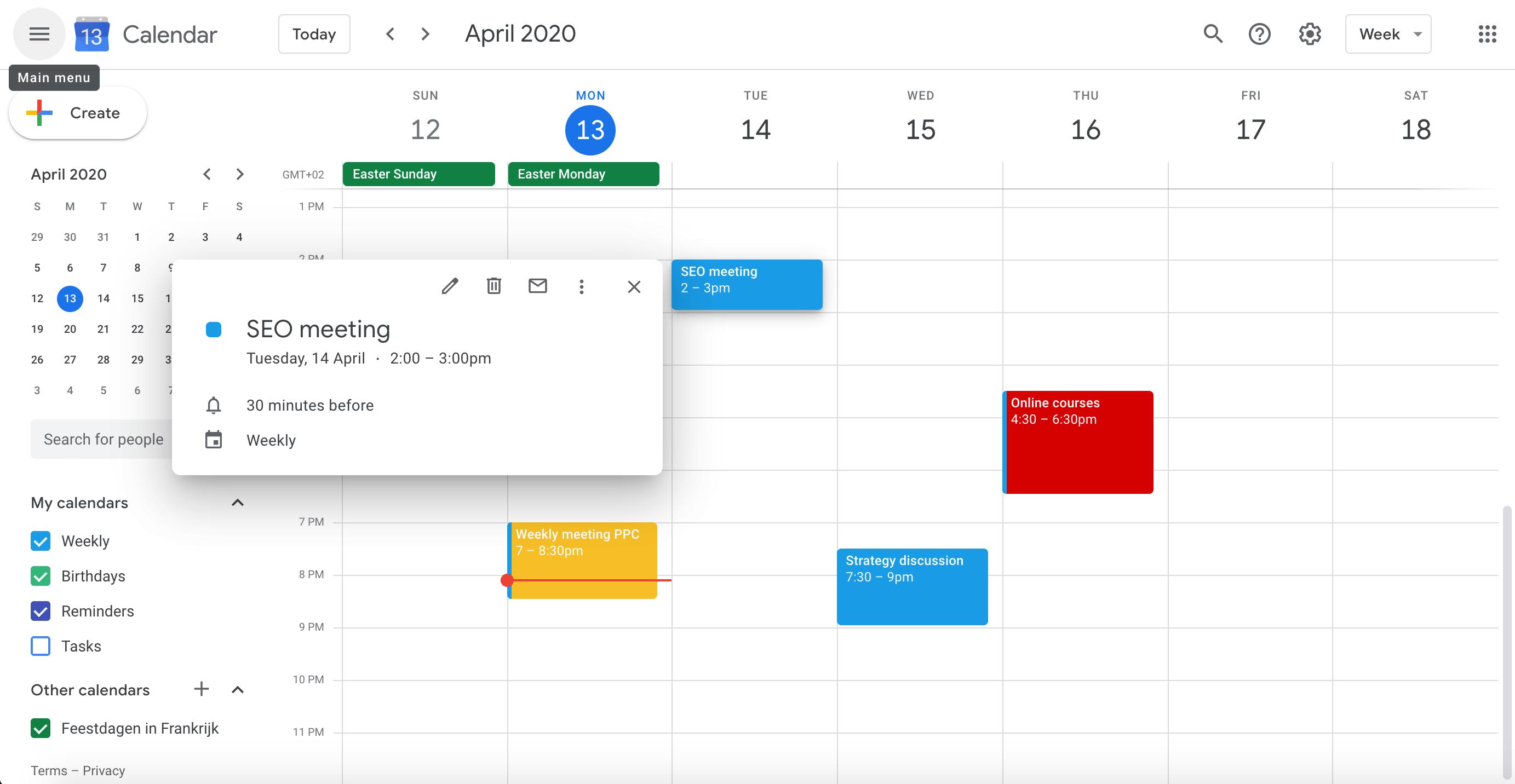 G Suite Calendar