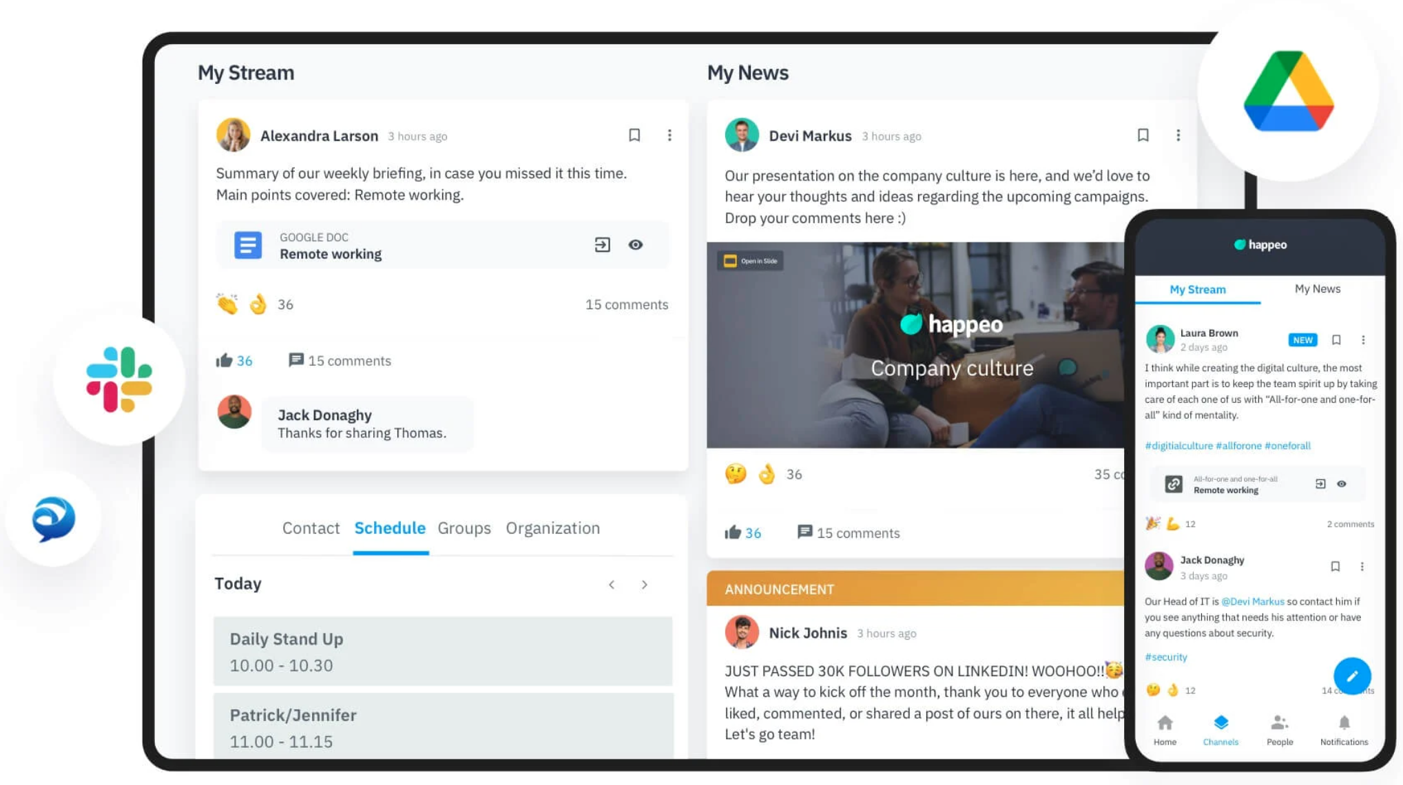 Best remote collaboration tool: Happeo