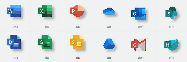 if microsoft designed google s icons