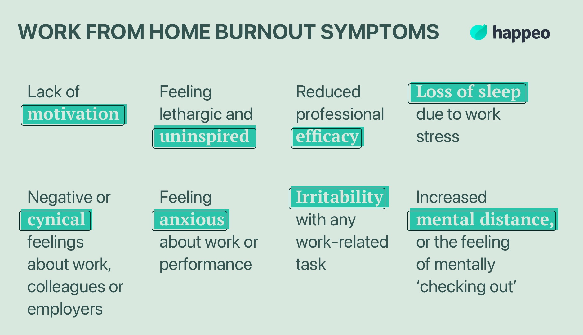 work from home symptoms