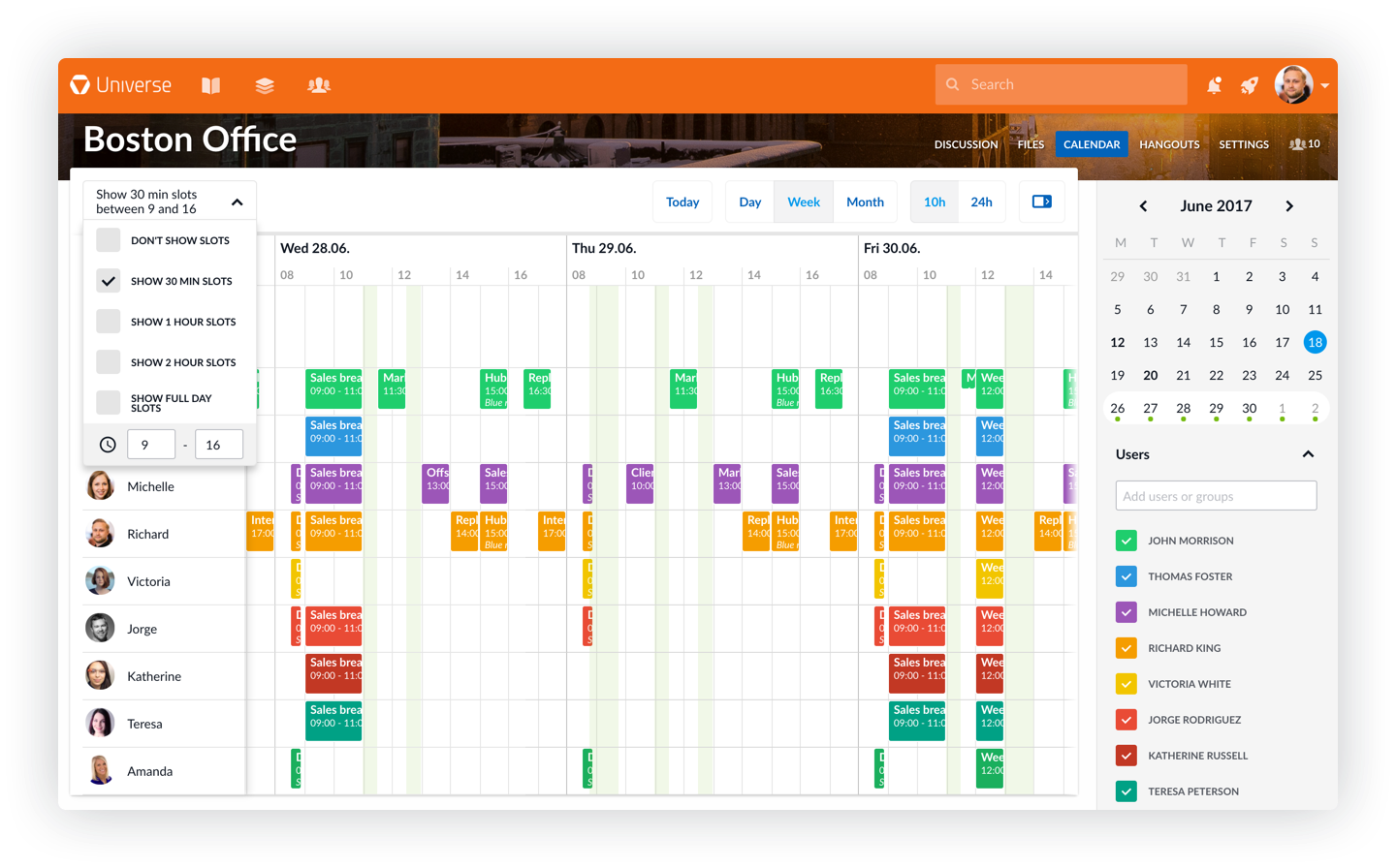 New Channel calendar improves team scheduling