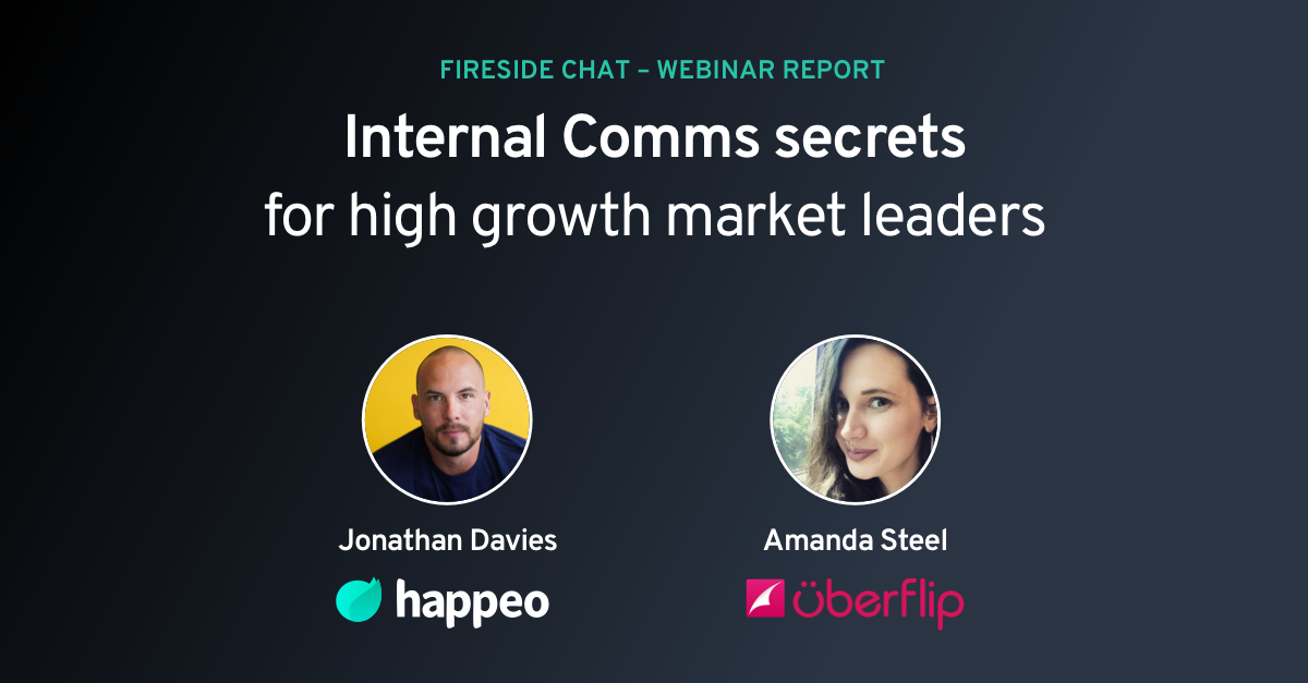 Webinar report: Internal Comms @ fast growing companies