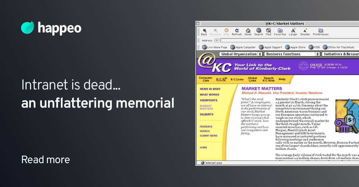 Intranet is dead... an unflattering memorial