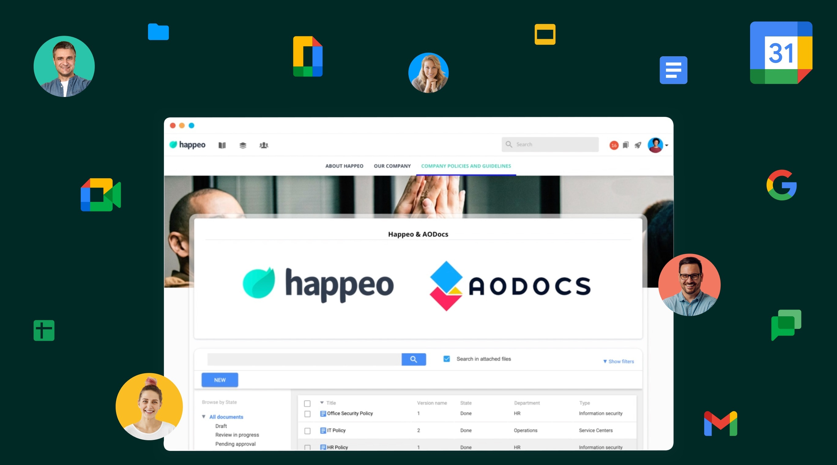 Happeo and AODocs join forces to offer more to Google Workspace users