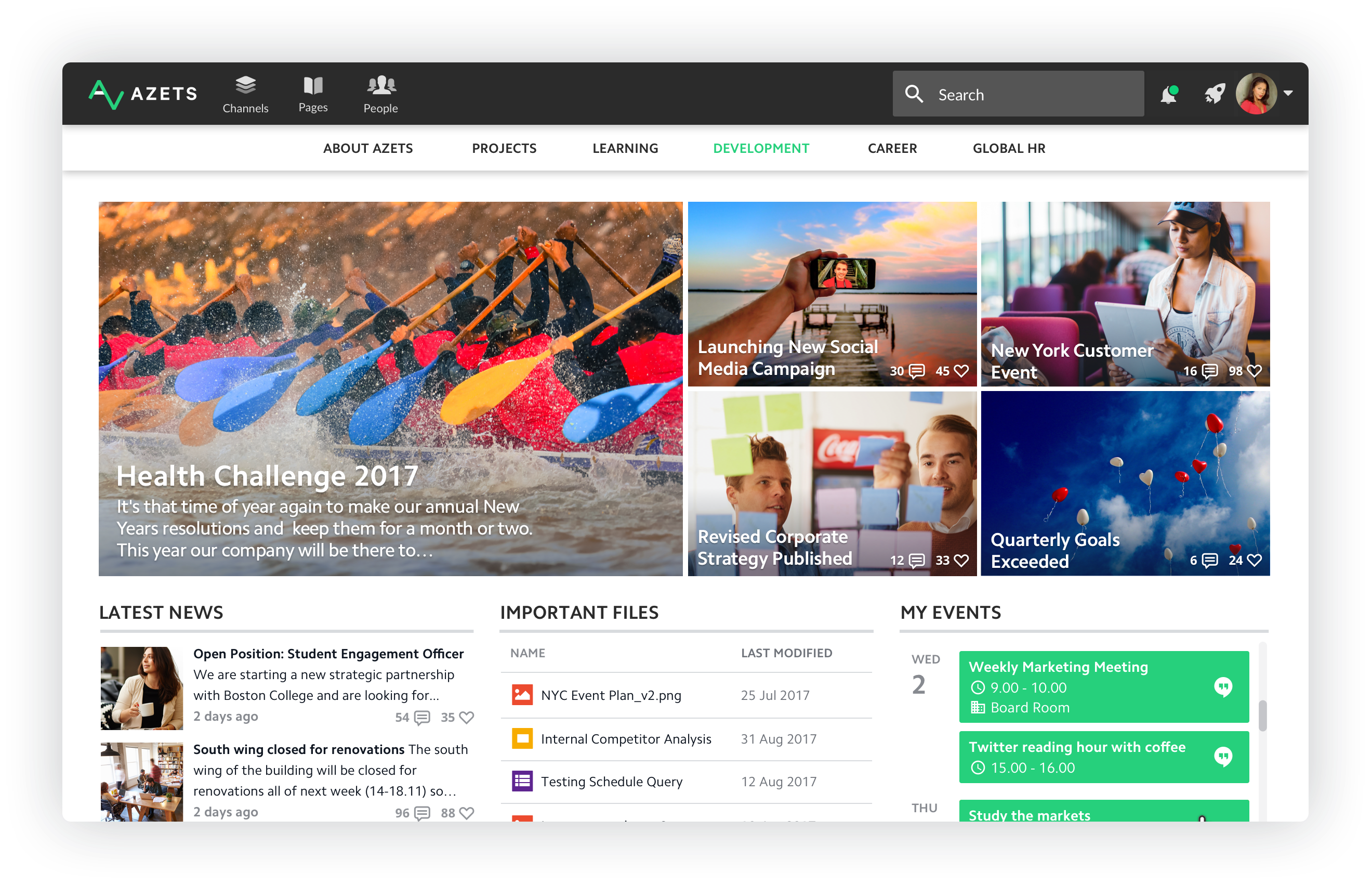 How to create an inspiring intranet landing page (Updated May 2019)